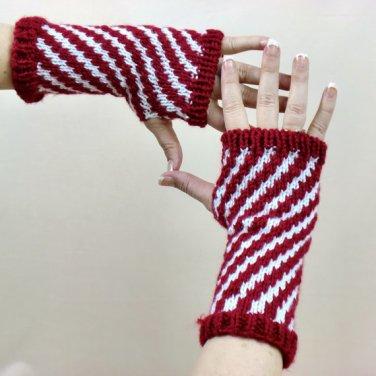 Cane Fingerless Gloves